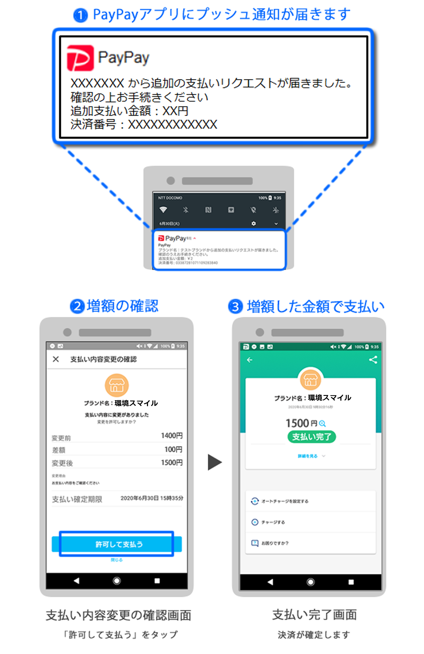 PayPay 増額について